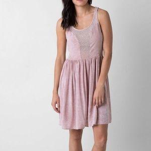 Daytrip pink mesh and knit dress small